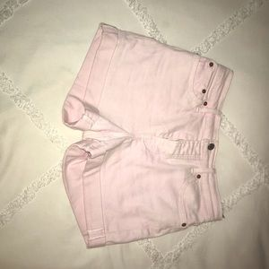 Levi's 501 fit. Pink jean shorts